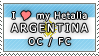 APH I love my Argentina OC Stamp by megumar