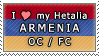 APH I love my Armenia OC Stamp by megumimaruidesu