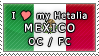 APH I love my Mexico OC Stamp by megumimaruidesu