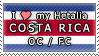 APH I love my Costa Rica OC Stamp by megumimaruidesu
