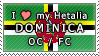 APH I love my Dominica OC Stamp by megumimaruidesu