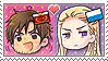 APH Chibi Heads Rome x Germania Stamp by megumimaruidesu
