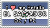 APH I love my El Salvador OC Stamp by megumimaruidesu