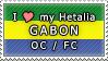 APH I love my Gabon OC Stamp by megumimaruidesu