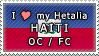 APH I love my Haiti OC Stamp by megumimaruidesu
