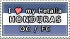 APH I love my Honduras OC Stamp by megumimaruidesu