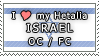 APH I love my Israel OC Stamp by megumar
