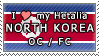 APH I love my North Korea OC Stamp by megumimaruidesu