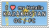 APH I love my Kazakhstan OC Stamp by megumar