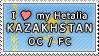 APH I love my Kazakhstan OC Stamp by megumar