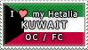 APH I love my Kuwait OC Stamp by megumimaruidesu