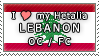 APH I love my Lebanon OC Stamp by megumimaruidesu