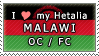 APH I love my Malawi OC Stamp by megumimaruidesu