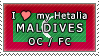 APH I love my Maldives OC Stamp by megumar