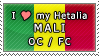 APH I love my Mali OC Stamp by megumimaruidesu