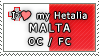 APH I love my Malta OC Stamp by megumimaruidesu