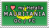 APH I love my Mauritania OC Stamp by megumar
