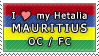 APH I love my Mauritius OC Stamp by megumimaruidesu