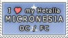 APH I love my Micronesia OC Stamp by megumimaruidesu