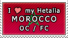 APH I love my Morocco OC Stamp by megumimaruidesu