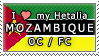 APH I love my Mozambique OC Stamp by megumar
