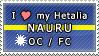 APH I love my Nauru OC Stamp by megumimaruidesu