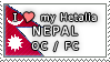 APH I love my Nepal OC Stamp by megumar