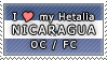 APH I love my Nicaragua OC Stamp by megumimaruidesu