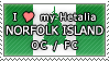 APH I love my Norfolk Island OC Stamp by megumar