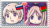 APH Chibi Heads Russia x Belarus Stamp by megumar