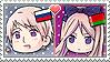 APH Chibi Heads Russia x Belarus Stamp by megumimaruidesu