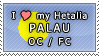 APH I love my Palau OC Stamp by megumimaruidesu