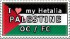 APH I love my Palestine OC Stamp by megumimaruidesu