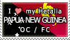 APH I love my Papua New Guinea OC Stamp by megumimaruidesu