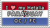 APH I love my Paraguay OC Stamp by megumar