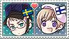 APH Chibi Heads Sweden x Finland Stamp by megumar
