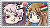 APH Chibi Heads Prussia x Hungary Stamp by megumimaruidesu