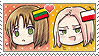 APH Chibi Heads Lithuania x Poland Stamp by megumimaruidesu