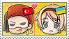 APH Chibi Heads Turkey x Ukraine Stamp by megumimaruidesu