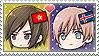APH Chibi Heads Hong Kong x Iceland Stamp by megumimaruidesu