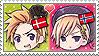 APH Chibi Heads Denmark x Norway Stamp by megumimaruidesu