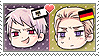 APH Chibi Heads Prussia x Germany Stamp by megumar