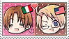 APH Chibi Heads Italy x America Stamp by megumimaruidesu