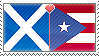 APH Scotland x Puerto Rico Stamp by megumimaruidesu