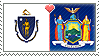 APH Massachusetts x New York Stamp by megumar