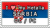 APH I love my Serbia OC Stamp by megumar