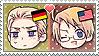 APH Chibi Heads Germany x America Stamp by megumar