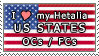 APH I love my US States OCs Stamp by megumar