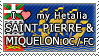 APH I love my Saint Pierre and Miquelon OC Stamp by megumimaruidesu