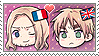 APH Chibi Heads France x England Stamp by megumar